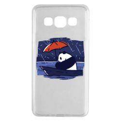 Чехол для Samsung A3 2015 Panda and rain