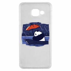 Чехол для Samsung A3 2016 Panda and rain