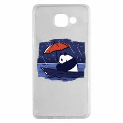 Чехол для Samsung A5 2016 Panda and rain