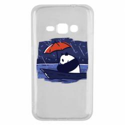Чехол для Samsung J1 2016 Panda and rain