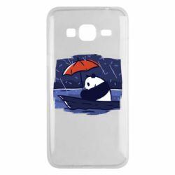 Чехол для Samsung J3 2016 Panda and rain