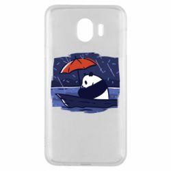 Чехол для Samsung J4 Panda and rain