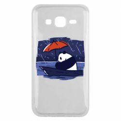 Чехол для Samsung J5 2015 Panda and rain