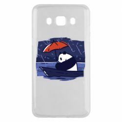 Чехол для Samsung J5 2016 Panda and rain