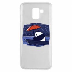 Чехол для Samsung J6 Panda and rain
