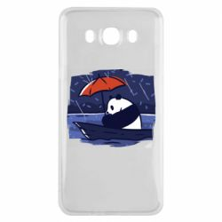 Чехол для Samsung J7 2016 Panda and rain