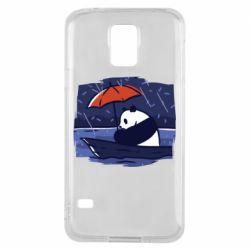 Чехол для Samsung S5 Panda and rain