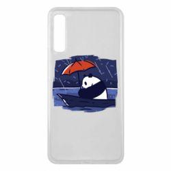 Чехол для Samsung A7 2018 Panda and rain