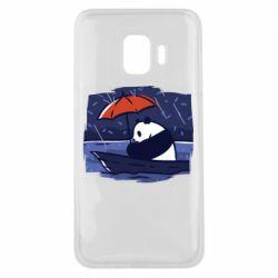 Чехол для Samsung J2 Core Panda and rain