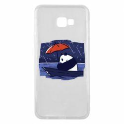 Чехол для Samsung J4 Plus 2018 Panda and rain
