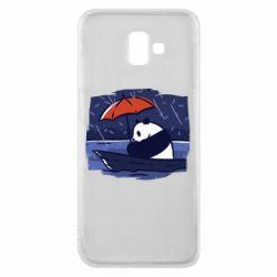 Чехол для Samsung J6 Plus 2018 Panda and rain