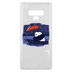 Чехол для Samsung Note 9 Panda and rain