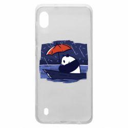 Чехол для Samsung A10 Panda and rain