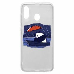 Чехол для Samsung A30 Panda and rain