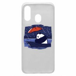 Чехол для Samsung A40 Panda and rain