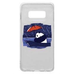 Чехол для Samsung S10e Panda and rain
