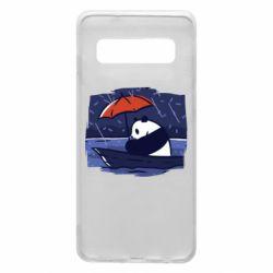 Чехол для Samsung S10 Panda and rain