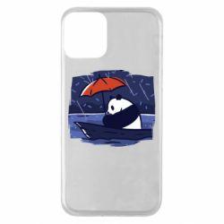 Чехол для iPhone 11 Panda and rain