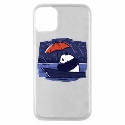 Чехол для iPhone 11 Pro Panda and rain