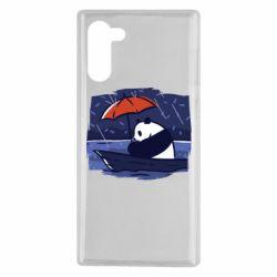 Чехол для Samsung Note 10 Panda and rain