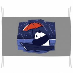 Флаг Panda and rain