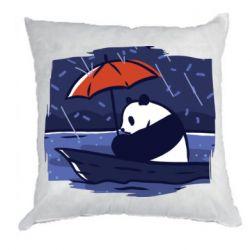 Подушка Panda and rain