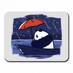 Коврик для мыши Panda and rain