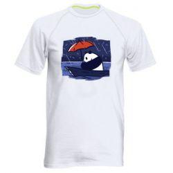 Мужская спортивная футболка Panda and rain