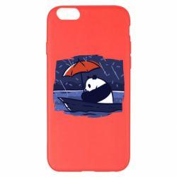 Чехол для iPhone 6 Plus/6S Plus Panda and rain