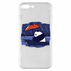 Чехол для iPhone 7 Plus Panda and rain