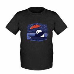 Детская футболка Panda and rain