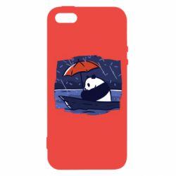 Чехол для iPhone5/5S/SE Panda and rain