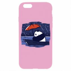 Чехол для iPhone 6/6S Panda and rain