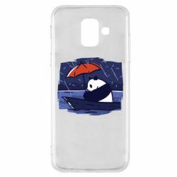 Чехол для Samsung A6 2018 Panda and rain