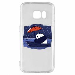 Чехол для Samsung S7 Panda and rain