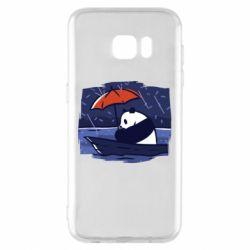 Чехол для Samsung S7 EDGE Panda and rain