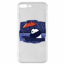 Чехол для iPhone 8 Plus Panda and rain
