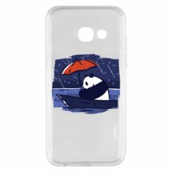 Чехол для Samsung A3 2017 Panda and rain