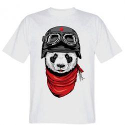 Мужская футболка Панда в каске - FatLine