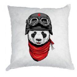 Подушка Панда в каске