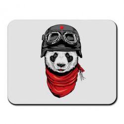 Коврик для мыши Панда в каске