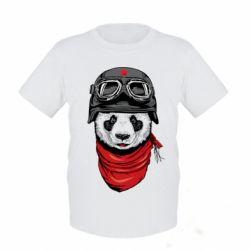 Детская футболка Панда в каске - FatLine