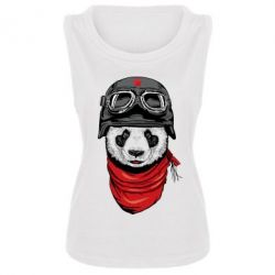 Женская майка Панда в каске