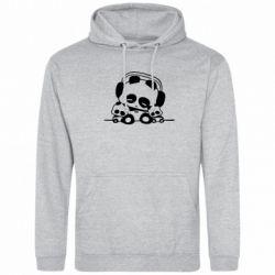 Толстовка Панда в наушниках - FatLine