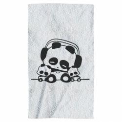 Полотенце Панда в наушниках