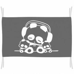 Флаг Панда в наушниках