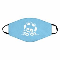 Маска для лица Панда в наушниках
