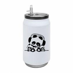 Термобанка 350ml Панда в наушниках