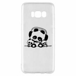 Чехол для Samsung S8 Панда в наушниках