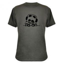 Камуфляжная футболка Панда в наушниках - FatLine
